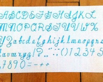 Cursive Back-Stitch Alphabet