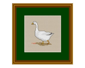 Duck Counted Cross Stitch Pattern. PDF Instant Download. Pattern.