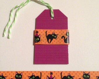 "30"" Black Cat Halloween Washi Tape Sample"