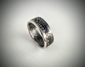 SALE!!! Barber Silver Half Dollar Coin Ring