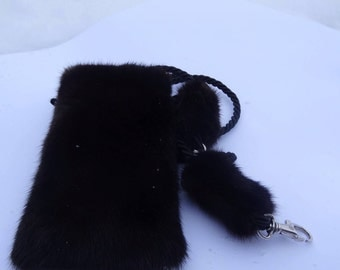 Phone Case made from mink fur