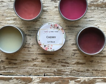 Cherry Flavored Lip Balm + 0.5 oz Moisturizing Lip Tint