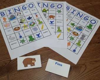 Animal Classification Bingo Game 1st - 3rd grades or ages 5 - 8
