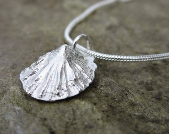 Cornish Silver Limpet Shell Necklace