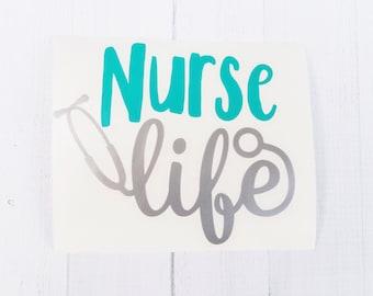 Nurse Life Decal   Scrub life Decal   Stethoscope vinyl decal   Nurse decal    car decal   iPhone decal   Yeti decal   laptop decal