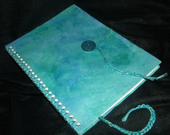 Ocean Swirl Hand bound Journal