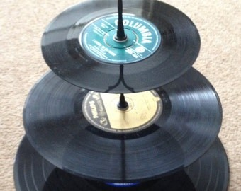 3 Tier Vinyl Record Cake Stand