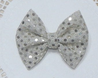 Gold Hair Bow,  Gold Bow for Girl, Gold Bow for Baby, Gold Sparkling Bow, Hair Bow, Hair Accessories