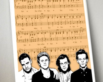 One Direction stunning print, one direction lyrics, 1D, harry styles - 2 prints for the price of 1