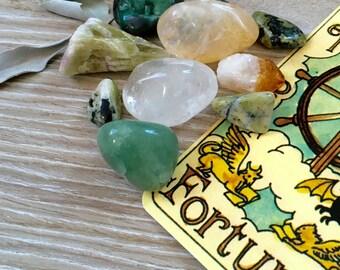 MONEY DRAW SET, gem set for abundance, prosperity, wealth.