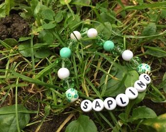 Sapling Green Plant Beaded Bracelet