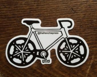Sticker - Rochester Logo Bike  - Linocut Design