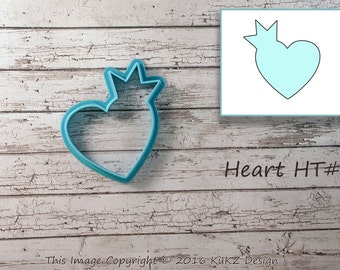Heart crown cookie cutter / Princess cookie cutter / Disney cookie cutter / Cookie cutter princess / Heart cookie cutter / Cookie cutters