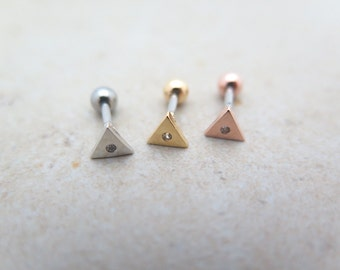 CZ stud Piercing/Tragus Earring/Cartilage earring/Triangle piercing/Tragus Piercing/CZ piercing/Triangle Piercing/Helix /conch/Barbells