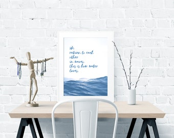 Love Poem by Nayyirah Waheed – Instant Digital Download – for 11 x 14 inches Poster