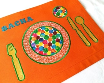 Personalized Placemat, Children's Placemat, Montessori Placemats, Personalized Gift,  Kids Placemat, Montessori Practical Life