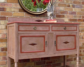 SOLD Commission for the renovation of a beautiful vintage dresser/dresser base