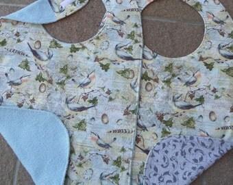 Bluebirds Sanctuary - Large Adult Bib Clothes Shirt Protector Saver, Women Special Needs Pregnancy Make-up Bib