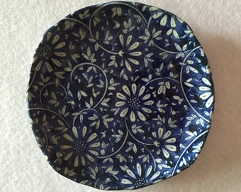 Blue Oriental Daisy Dish