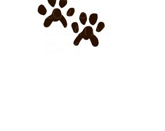 Cat Tracks SVG   cut file  t-shirts  animals wild life forest Huntingscrapbook vinyl decal wood sign cricut cameo Commercial use