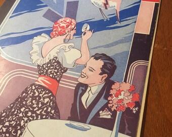 Little Gypsy Tea Room Sheet Music Original Sheet Music, Original Art Print, 1930s Sheet Music Art Crafts