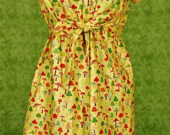 Forest Toadstool Dress, Women's Size M