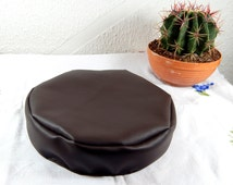 Small leather dog bed, Chihuahua brown leather bean bag leather small dog bed filled with bean bag filling material, perfect for mini dog