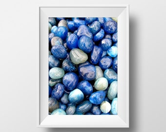 Blue pebbels printable art for bathrooms,instant download photographs,nature photography, photography download,Bathroom art printable photo