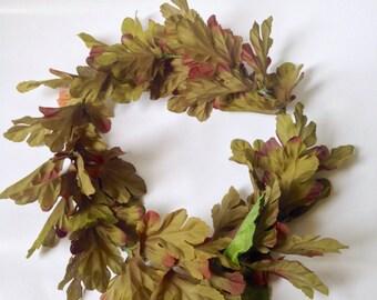 simple leafy wedding boho foliage green flower crown