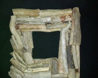 Handmade Driftwood Frame Beach Decor