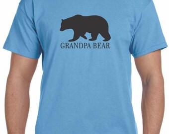Grandpa Bear Shirt Grandfather Gift Fathers Day Fathers Day Gift Grandpa Personalized Grandparent Gift Grandpa Gift New Grandparent Gift