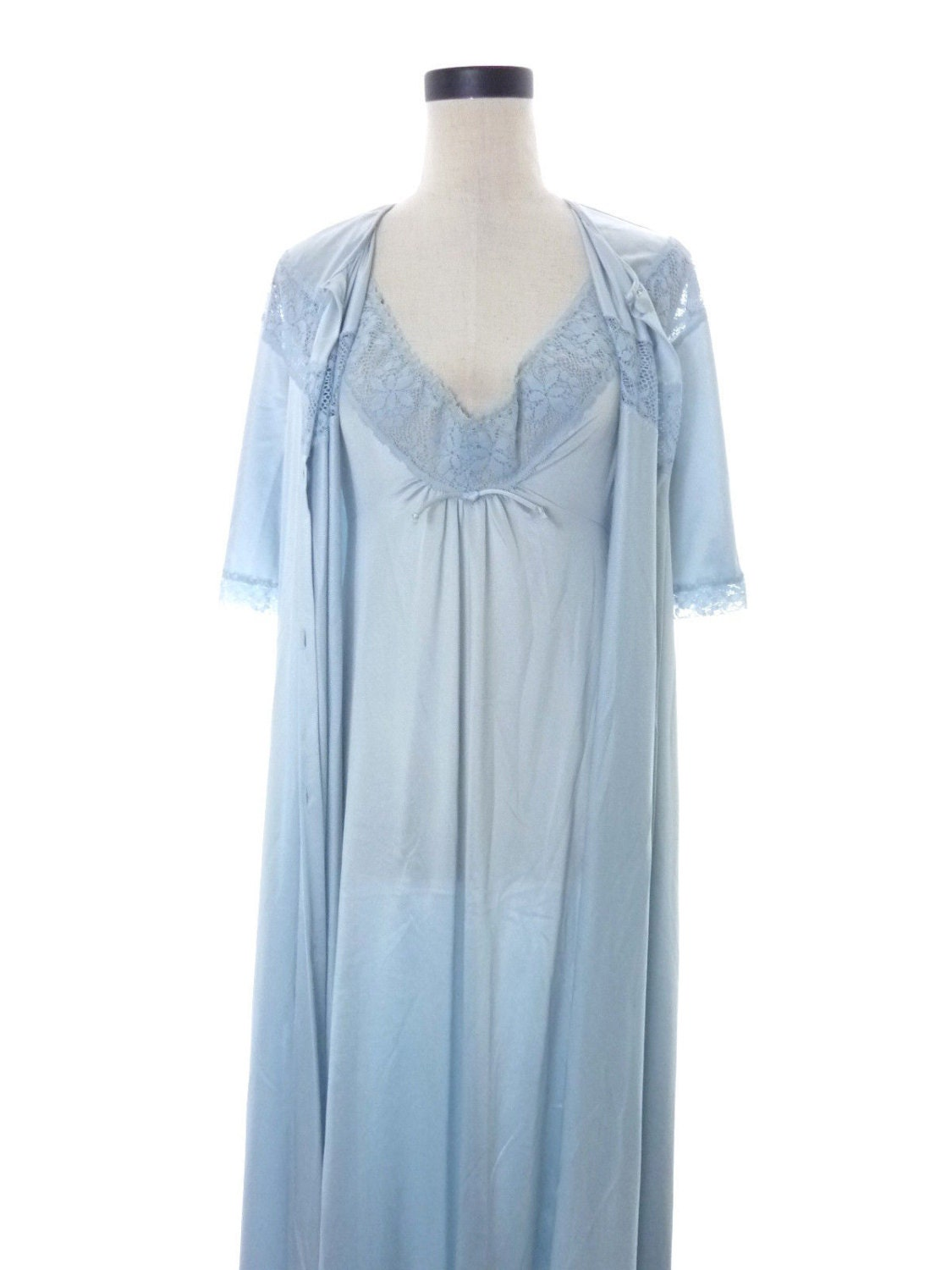 Vintage Vanity Fair Small Long Nightgown And Medium Robe