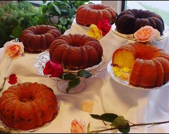 Delicious homemade rum cakes -  large bundt