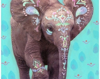 Baby Elephant limited edition print