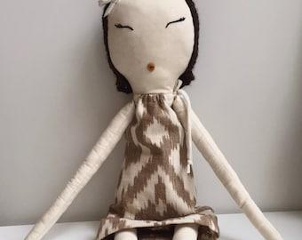 Khaki Ikat Rag Doll