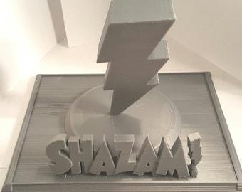 Captain Marvel - Shazam Inspired Statue (RAW PRINT)
