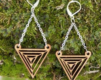 Earrings wooden WOODEARZ OPTIC