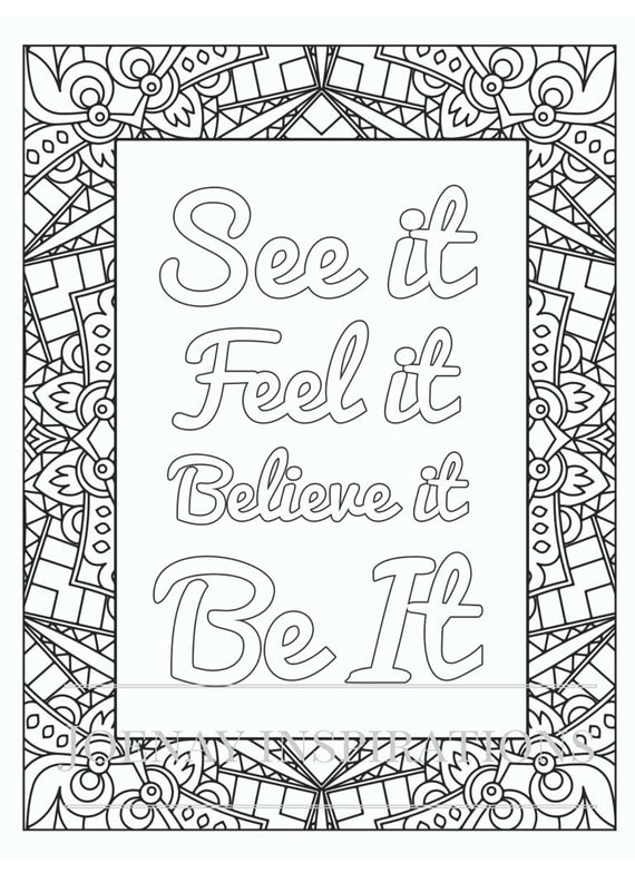 Positive Affirmations Printable
