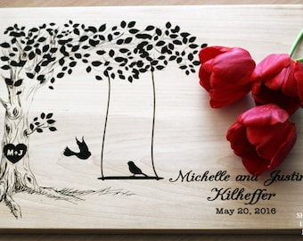 Personalized cutting board Wedding gift Cutting board Bridal Shower Gift Wedding Gift for couple Engraved cutting board Anniversary Gift