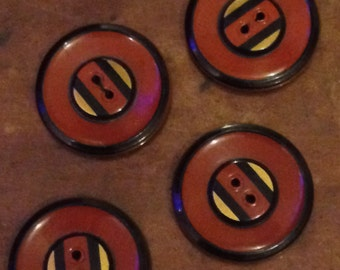 4 Period Buttons For Steampunk Jackets/ Shirts