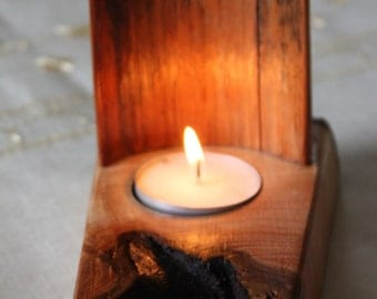 Tealight Holder - reclaimed pine