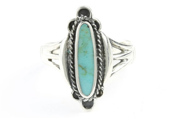 Sky Fall Turquoise Ring, Sterling Silver Turquoise ring, 925, Boho, Gypsy, Festival Jewelry, Gemstone, Southwestern Design