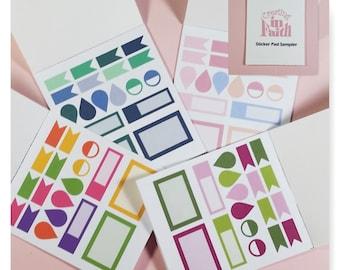 Sticker Pad Sampler