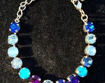 Swarovski Crystal Bracelet, Blue Crystal Bracelet