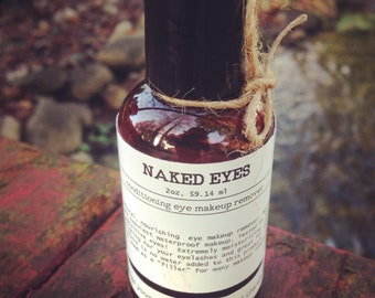 Naked Eyes- All natural, conditioning eye makeup remover, sensitive eyes makeup remover, makeup remover, waterproof eye makeup remover