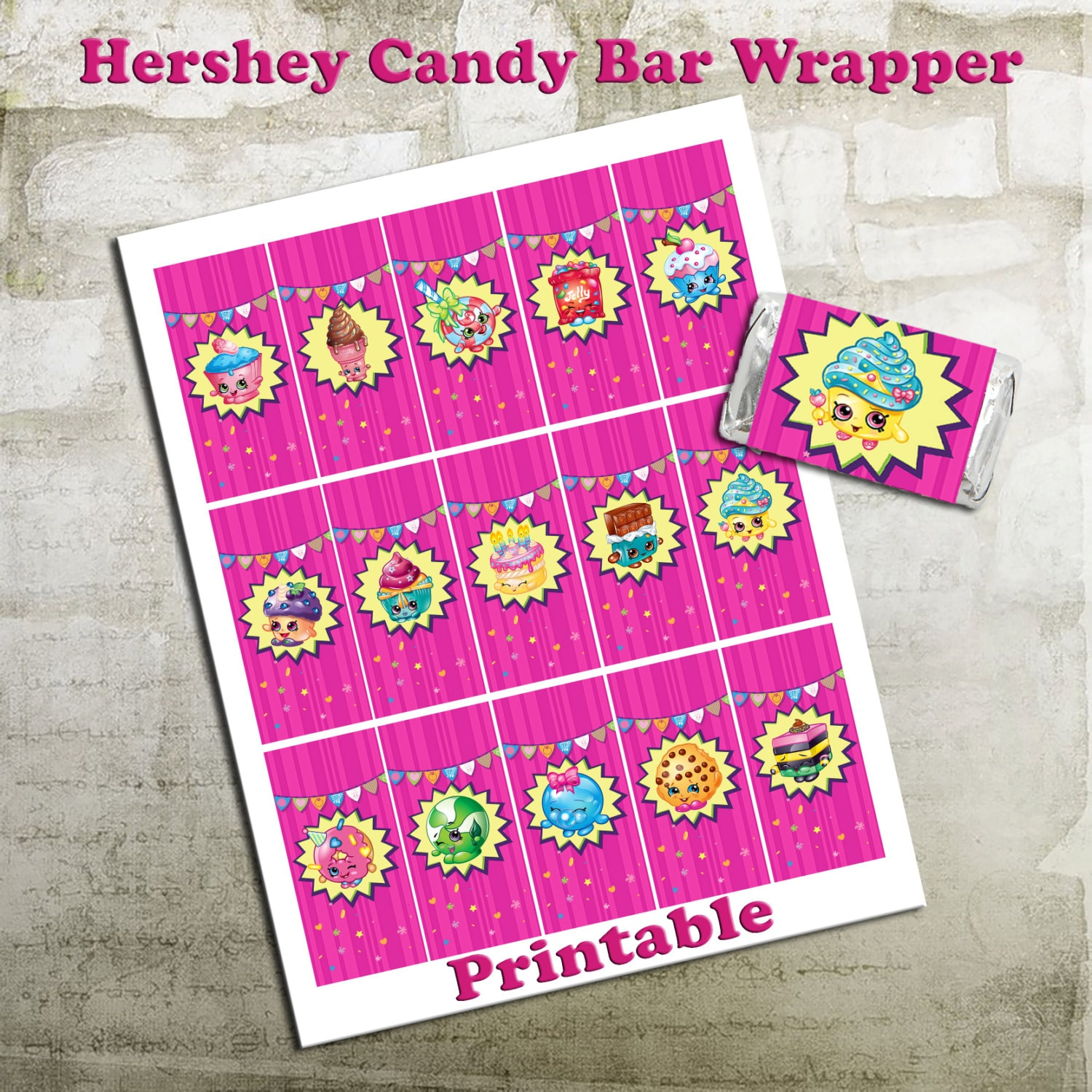 shopkins mini hershey candy wrappers 15 by octopusdigitalstore