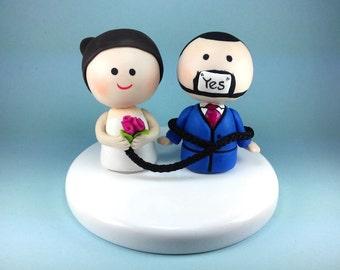 Funny wedding cake topper, custom wedding cake topper