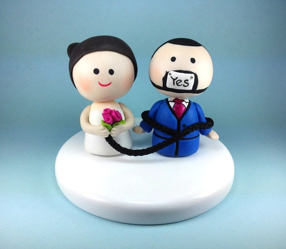 Funny Wedding Cake Topper Custom Wedding Cake Topper