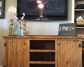 Rustic entry way cabinet, credenza, console, tv stand