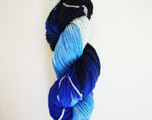 Hand dyed yarn 'The Blue Pill' 8ply DK 100g